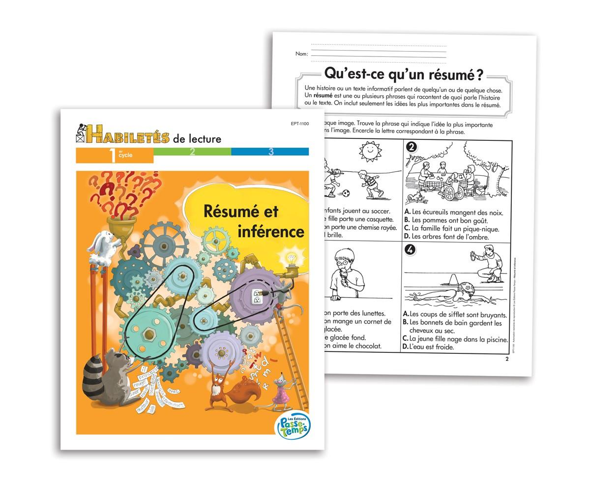 Habiletés de lecture - 1er cycle - Résumé et inférence