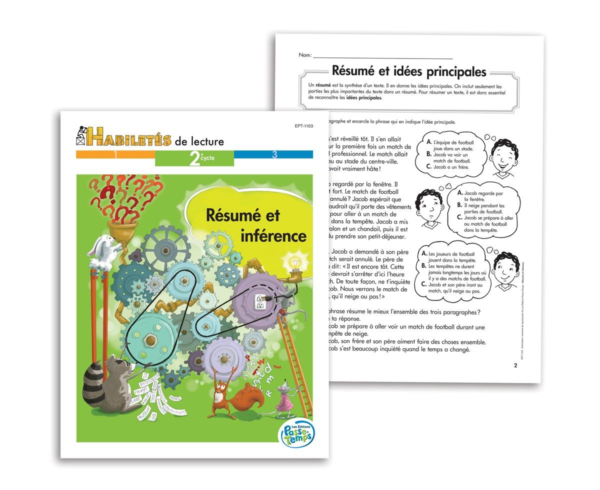 Habiletés de lecture - 2e cycle - Résumé et inférence
