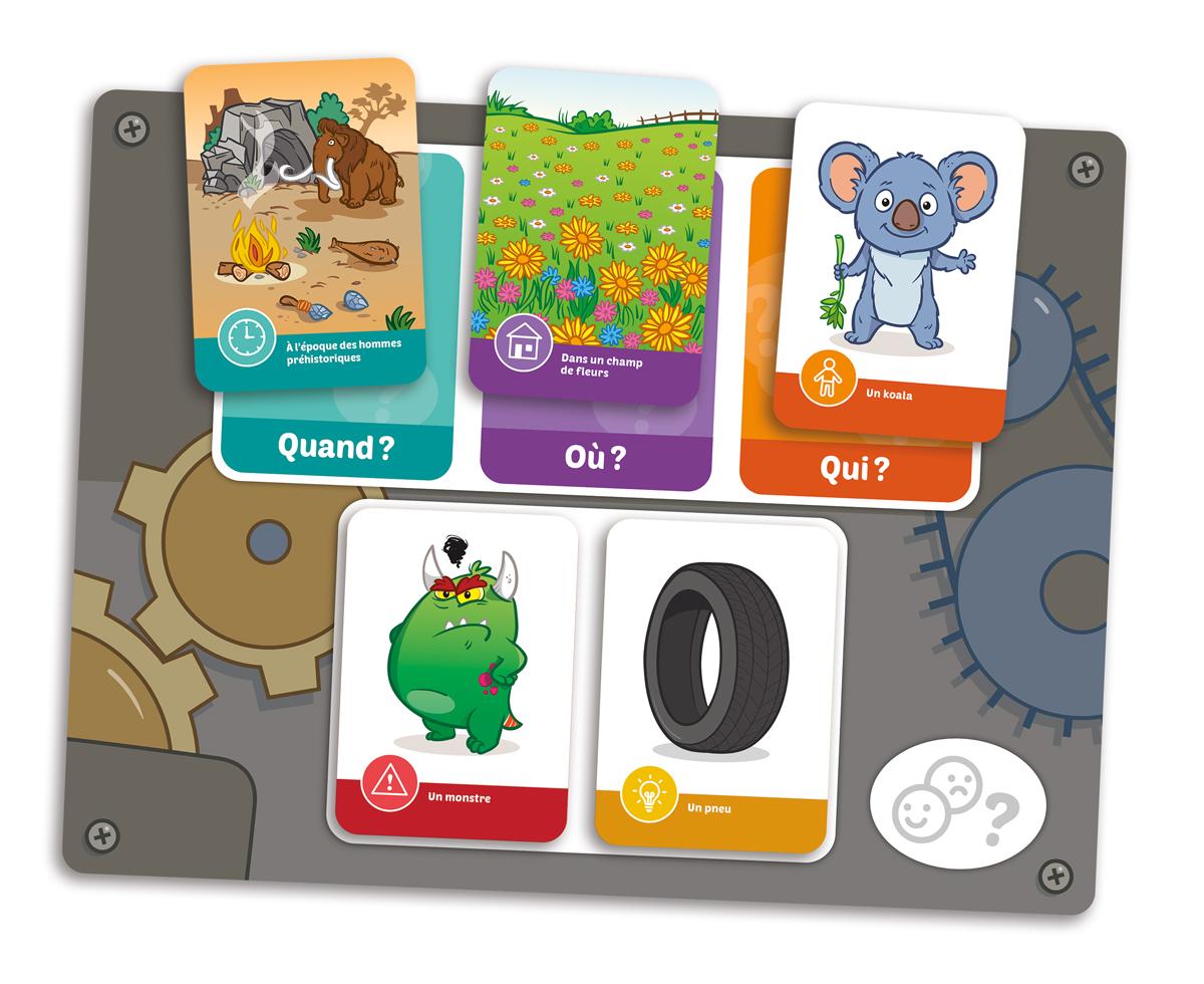 Planche de jeu (aide-mémoire) du jeu Placote Histoire de raconter (PLA46)
