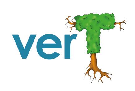 Le mot vert est représenté avec un arbre à la place de la lettre T