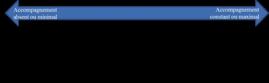 Figure 1 : Un continuum des rôles des adultes dans le jeu des enfants (schéma traduit et adapté de Johnson, Christie et Wardle (2005)).